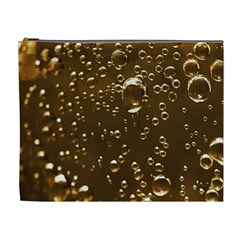 Festive Bubbles Sparkling Wine Champagne Golden Water Drops Cosmetic Bag (xl)