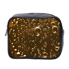 Festive Bubbles Sparkling Wine Champagne Golden Water Drops Mini Toiletries Bag 2 Side