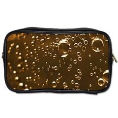 Festive Bubbles Sparkling Wine Champagne Golden Water Drops Toiletries Bags