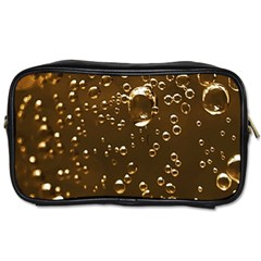Festive Bubbles Sparkling Wine Champagne Golden Water Drops Toiletries Bags 2-Side