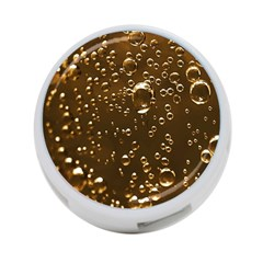 Festive Bubbles Sparkling Wine Champagne Golden Water Drops 4-Port USB Hub (Two Sides)