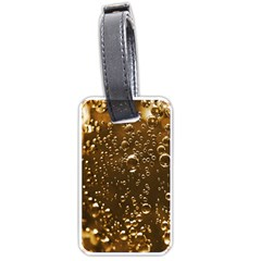 Festive Bubbles Sparkling Wine Champagne Golden Water Drops Luggage Tags (Two Sides)