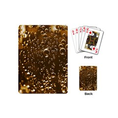 Festive Bubbles Sparkling Wine Champagne Golden Water Drops Playing Cards (Mini)