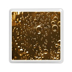 Festive Bubbles Sparkling Wine Champagne Golden Water Drops Memory Card Reader (Square)