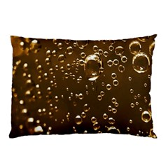 Festive Bubbles Sparkling Wine Champagne Golden Water Drops Pillow Case (two Sides)
