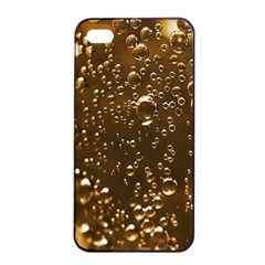 Festive Bubbles Sparkling Wine Champagne Golden Water Drops Apple iPhone 4/4s Seamless Case (Black)