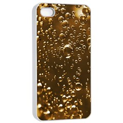 Festive Bubbles Sparkling Wine Champagne Golden Water Drops Apple Iphone 4/4s Seamless Case (white)