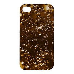 Festive Bubbles Sparkling Wine Champagne Golden Water Drops Apple Iphone 4/4s Hardshell Case