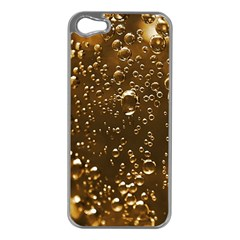 Festive Bubbles Sparkling Wine Champagne Golden Water Drops Apple iPhone 5 Case (Silver)