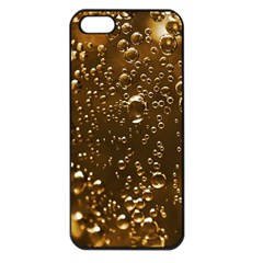 Festive Bubbles Sparkling Wine Champagne Golden Water Drops Apple Iphone 5 Seamless Case (black)
