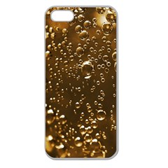 Festive Bubbles Sparkling Wine Champagne Golden Water Drops Apple Seamless Iphone 5 Case (clear)