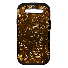 Festive Bubbles Sparkling Wine Champagne Golden Water Drops Samsung Galaxy S III Hardshell Case (PC+Silicone)