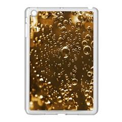 Festive Bubbles Sparkling Wine Champagne Golden Water Drops Apple Ipad Mini Case (white)
