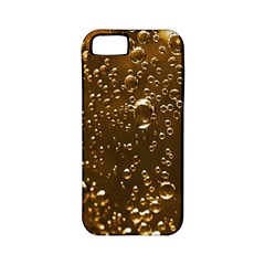 Festive Bubbles Sparkling Wine Champagne Golden Water Drops Apple iPhone 5 Classic Hardshell Case (PC+Silicone)