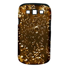Festive Bubbles Sparkling Wine Champagne Golden Water Drops Samsung Galaxy S III Classic Hardshell Case (PC+Silicone)