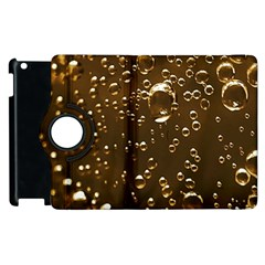 Festive Bubbles Sparkling Wine Champagne Golden Water Drops Apple Ipad 2 Flip 360 Case