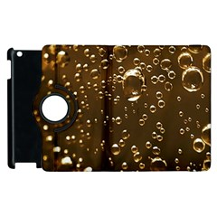 Festive Bubbles Sparkling Wine Champagne Golden Water Drops Apple iPad 3/4 Flip 360 Case