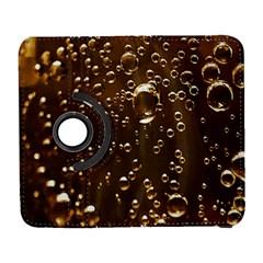 Festive Bubbles Sparkling Wine Champagne Golden Water Drops Galaxy S3 (flip/folio)