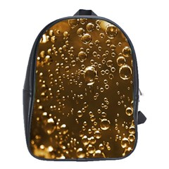 Festive Bubbles Sparkling Wine Champagne Golden Water Drops School Bags (xl)