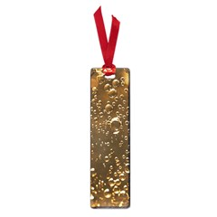 Festive Bubbles Sparkling Wine Champagne Golden Water Drops Small Book Marks