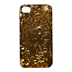 Festive Bubbles Sparkling Wine Champagne Golden Water Drops Apple Iphone 4/4s Hardshell Case With Stand