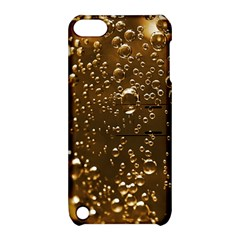 Festive Bubbles Sparkling Wine Champagne Golden Water Drops Apple iPod Touch 5 Hardshell Case with Stand