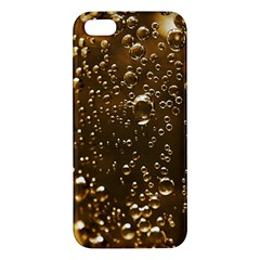 Festive Bubbles Sparkling Wine Champagne Golden Water Drops Apple Iphone 5 Premium Hardshell Case