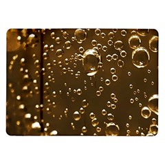 Festive Bubbles Sparkling Wine Champagne Golden Water Drops Samsung Galaxy Tab 10.1  P7500 Flip Case