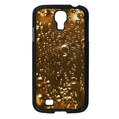 Festive Bubbles Sparkling Wine Champagne Golden Water Drops Samsung Galaxy S4 I9500/ I9505 Case (Black)