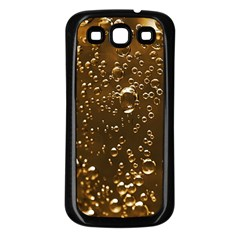 Festive Bubbles Sparkling Wine Champagne Golden Water Drops Samsung Galaxy S3 Back Case (black)
