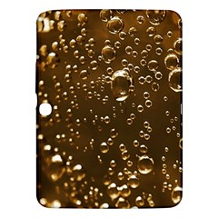 Festive Bubbles Sparkling Wine Champagne Golden Water Drops Samsung Galaxy Tab 3 (10.1 ) P5200 Hardshell Case