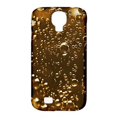 Festive Bubbles Sparkling Wine Champagne Golden Water Drops Samsung Galaxy S4 Classic Hardshell Case (PC+Silicone)