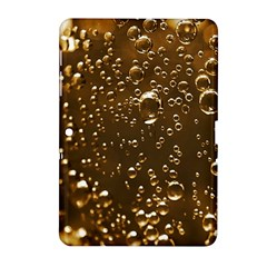 Festive Bubbles Sparkling Wine Champagne Golden Water Drops Samsung Galaxy Tab 2 (10 1 ) P5100 Hardshell Case