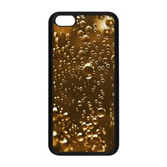 Festive Bubbles Sparkling Wine Champagne Golden Water Drops Apple iPhone 5C Seamless Case (Black)