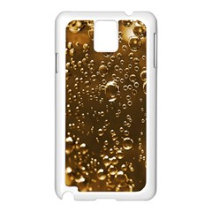 Festive Bubbles Sparkling Wine Champagne Golden Water Drops Samsung Galaxy Note 3 N9005 Case (White)