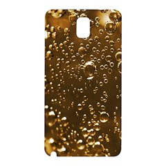 Festive Bubbles Sparkling Wine Champagne Golden Water Drops Samsung Galaxy Note 3 N9005 Hardshell Back Case