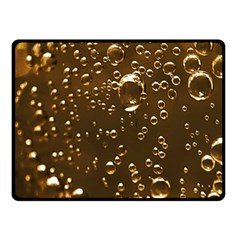 Festive Bubbles Sparkling Wine Champagne Golden Water Drops Double Sided Fleece Blanket (small)