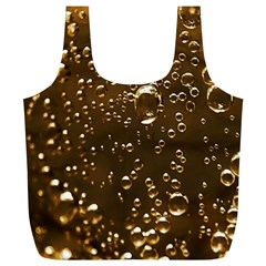 Festive Bubbles Sparkling Wine Champagne Golden Water Drops Full Print Recycle Bags (L)