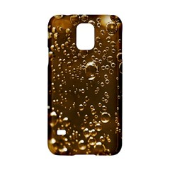 Festive Bubbles Sparkling Wine Champagne Golden Water Drops Samsung Galaxy S5 Hardshell Case