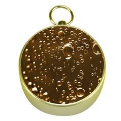 Festive Bubbles Sparkling Wine Champagne Golden Water Drops Gold Compasses