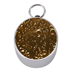 Festive Bubbles Sparkling Wine Champagne Golden Water Drops Mini Silver Compasses