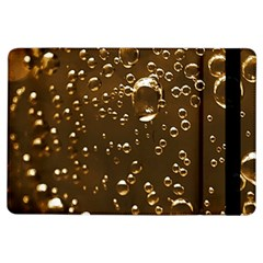 Festive Bubbles Sparkling Wine Champagne Golden Water Drops iPad Air Flip