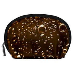 Festive Bubbles Sparkling Wine Champagne Golden Water Drops Accessory Pouches (large)
