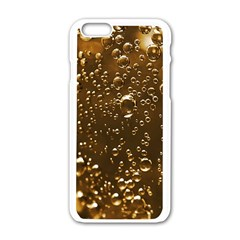 Festive Bubbles Sparkling Wine Champagne Golden Water Drops Apple Iphone 6/6s White Enamel Case