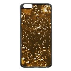 Festive Bubbles Sparkling Wine Champagne Golden Water Drops Apple iPhone 6 Plus/6S Plus Black Enamel Case