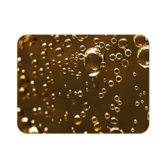 Festive Bubbles Sparkling Wine Champagne Golden Water Drops Double Sided Flano Blanket (Mini)