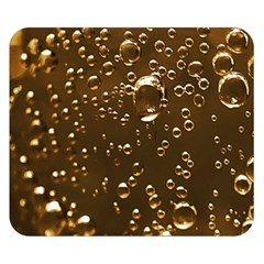 Festive Bubbles Sparkling Wine Champagne Golden Water Drops Double Sided Flano Blanket (Small)