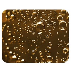 Festive Bubbles Sparkling Wine Champagne Golden Water Drops Double Sided Flano Blanket (Medium)