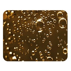 Festive Bubbles Sparkling Wine Champagne Golden Water Drops Double Sided Flano Blanket (Large)