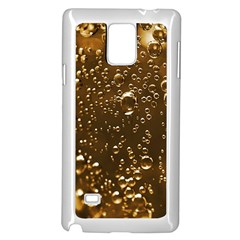 Festive Bubbles Sparkling Wine Champagne Golden Water Drops Samsung Galaxy Note 4 Case (White)